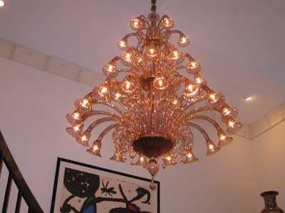 Professional chandelier cleaning by Chantelle Chandeliers