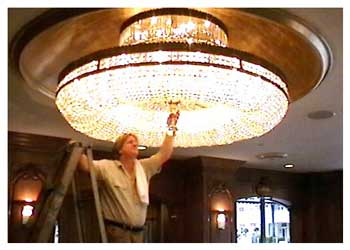Professional chandelier cleaning services by Chantelle Chandeliers